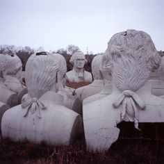 So… There's A Graveyard Of Presidential Heads Decaying In A Random Virginia Field #graveyard #statues #presidents