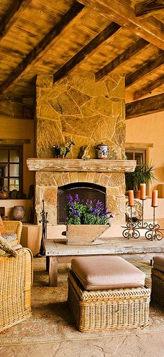 Outdoor Fireplace and terrific patio. Could be a poured concrete deck, nice fireplace design, love the candle holder too!