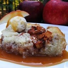 "Virginia Apple Pudding | ""This is a wonderful old family recipe served warm, topped with vanilla ice cream."""
