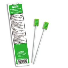 Amazon.com: Toothette® Oral Care Plus Swabs with Alcohol-Free Mouthwash - Case (100 Packages): Health & Personal Care