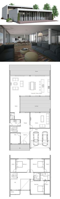 Contemporary home plan floor layouts and building info modern house plan to modern family