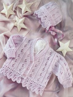 Baby Cardigan, Baby Bonnet, Knit, Knitting Pattern, Cute Baby Sweater And Bonnet, Sirdar, Baby Gift | Shelley Beatty