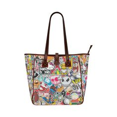 Stickers Style Classic Tote Bag (Model 1644)