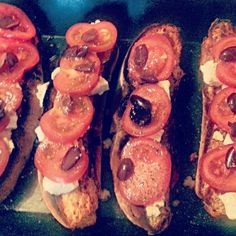 Grilled Greek Whole Wheat Bread with olive oil, Feta, olives and tomatoes from the Book *A Passion for Baking*