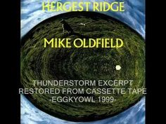 Mike Oldfield - Hergest Ridge - Thunderstorm excerpt - restored from cas...