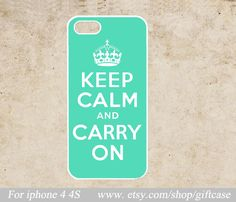 keep calm and carry on iPhone 4 Case,iPhone 4s Case,Personalized Cover,iphone case,Hard Plastic Phone Case