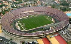 Morumbi Stadium, the largest privately owned stadium in Brazil (home of SPFC) full of colors for another great game.
