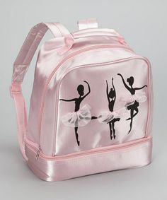 Take a look at this Pink & Black Ballet Silhouette Backpack by Seesaws & Slides on #zulily today!