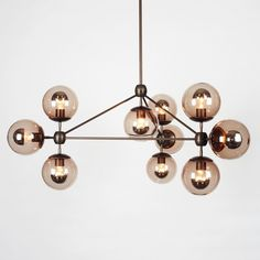 Buy Modo Chandelier - 3 Sided, 10 Globes by Jason Miller - Ceiling - Lighting - Dering Hall