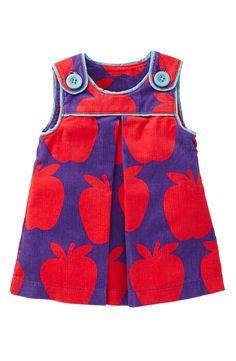 Baby Clothing – Mini Boden Print Corduroy Pinafore Dress (Infant)- BabyaBaby