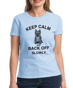'Keep Calm and Back Off' Crewneck Tee