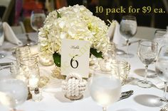 Nautical Wedding Rope Knots 10 Table Number by MysticKnotwork