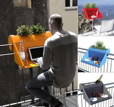do you like that? that's a nice idea for a small balcony... creating a mini working place or a coffee table...