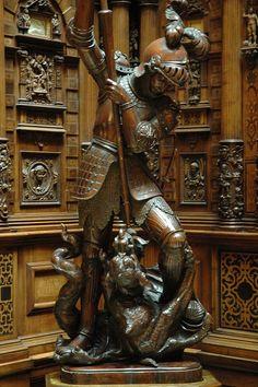 Wood Sculpture in Peles Castle by marcosborn, via Flickr