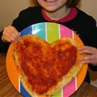 Such a slam dunk- heart pizzas! I will make individual pizzas for each boy.