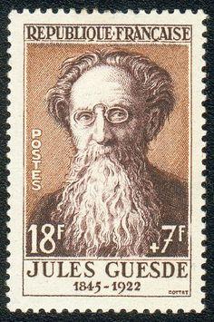 Zoom sur le timbre «Jules Guesde 1845-1922 »1957