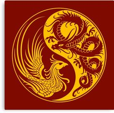 Dragon Tattoo For Couples, Tattoo Dragon And Phoenix, Dragon Inquisition, Indigenous Australian Art, Yin Yang Tattoos, Stamp Carving, Dragon Art, Coven, Chinese Art