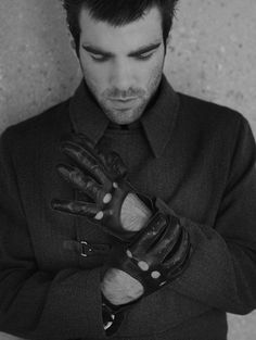Zachary Quinto... what is it about hot guys in leather gloves that just gets me?! ;)