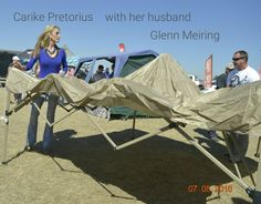 Carike Pretorius with her husband Glenn Meiring