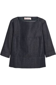 Pin for Later: 26 Finds to Feed Your Summer Denim Obsession Marni Denim top Marni Denim top ($440)