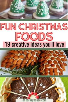 Use these creative and fun Christmas food ideas for holiday gatherings of all kinds! These Christmas party food ideas are so festive and easy to make. You'll love the creativity while your guests love the taste! Make these crowd-favorites that kids will love too. #christmasfoods #christmas #holiday #dessert #holidayparty #partyfood Creative Christmas Food, Christmas Party Food, Christmas On A Budget, Christmas Holiday, Holiday Parties, Holiday Fun, Festive, Christmas Decorations, Cute Food