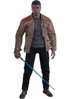 Star Wars: The Force Awakens: Finn Hot Toys Deluxe Action Figure Figuras Star Wars, Blue Lightsaber, Lightsaber Hilt, Star Wars Figurines, Episode Vii, Star Wars Film, Star Wars Action Figures, Por Tv, Colored Pants