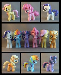 express how much i'd love these. omg what if baby pinkie had straight hair? Mane 6 Fillies by *krowzivitch on deviantART Cumple My Little Pony, Little Pony Cake, Mlp My Little Pony, My Little Pony Friendship, Dessin My Little Pony, Imagenes My Little Pony, Little Poney, Cute Clay, Mlp Pony