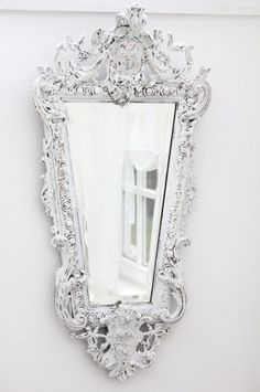 Victorian mirror in white.  Can't have enough Mirrors !!