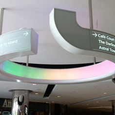 Cool directional signage #light #wayfinding