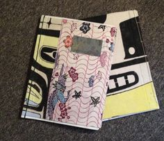 Notebooks - Japanese binding with painted bindings and Japanese paper covers