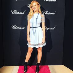 What a stunning night hosted by @chopard at @baccarat museum in #Paris. #AboutLastNight #jewlery by: #Chopard #dress by: @vicedominiofficial #shoes by: @eliesaabworld