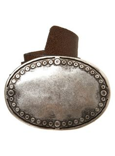 Burton Brown Circles Plate Belt Brown leather belt with a silver coloured oval buckle. Leather. http://www.comparestoreprices.co.uk/mens-clothes/burton-brown-circles-plate-belt.asp
