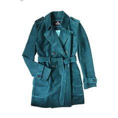 Suede Trench Coat   Etrala London   Wolf & Badger