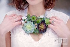 succulent  necklace~ Park Place Design