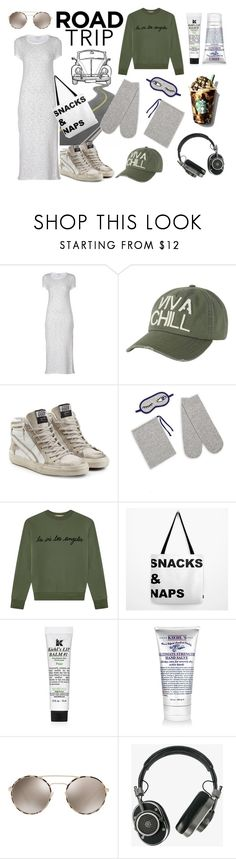 """Road Trippin'"" by istyled ❤ liked on Polyvore featuring James Perse, Billabong, Golden Goose, Saks Fifth Avenue, Être Cécile, Kiehl's, Prada, Master & Dynamic, StreetStyle and ootd"