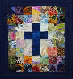 religious barn quilt with cross Lap Quilts, Small Quilts, Mini Quilts, Cross Patterns, Quilt Block Patterns, Quilt Blocks, Rug Patterns, Stitch Patterns, Quilting Projects