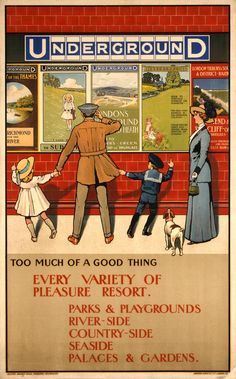 A 1910 poster illustrating Too much of a good thing, by John Henry Lloyd