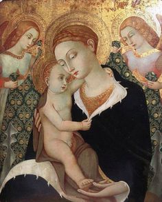 Italian Forger Umberto Giunti (1886-1970) - Madonna and Child with Two Angels - Metropolitan Museum of Art.