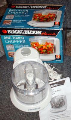BLACK AND DECKER ONE TOUCH CHOPPER HC306 #BLACKANDDECKER