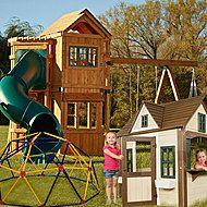 -Swing-N-Slide Complete Swing Set with Outdoor Playhouse & Backyard Fun Bundle