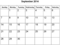 31 best september 2014 calendar images on pinterest printable