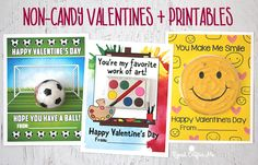 Non-Candy Valentines + Printables