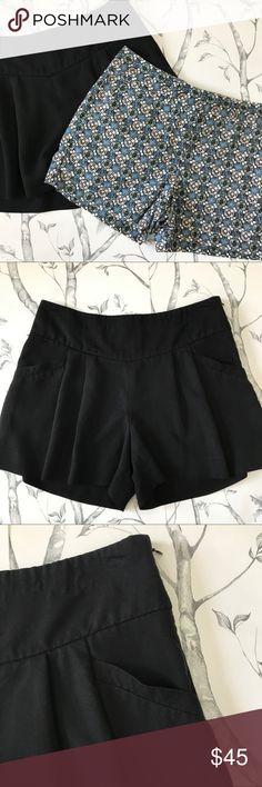 "Bundle Ann Taylor LOFT Black Flower Print Shorts Bundle of Ann Taylor LOFT Shorts. Pair 1: black, flowy, pleated, soft, side zip. 79% rayon/21% polyester. Size 2 Waist 29"" Length 13"" Inseam 3.75"". Excellent condition. Pair 2: Blue, white, brown Floral print. 55% linen/45% cotton. Size 2 Waist 31"" Length 12.5"" Inseam 3.75"" Button, hook and zipper closure. Excellent condition. Reasonable offers welcome! LOFT Shorts"