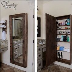 For a small bathroom, or most any room. Would make a nice spice cubbord in the kitchen.