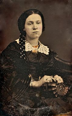 Melancholy Miss, 1/9th-Plate Daguerreotype, Circa 1858 by lisby1, via Flickr