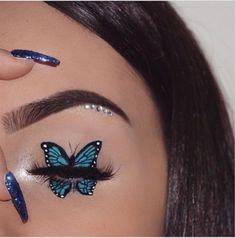 Makeup Eye Looks, Eye Makeup Art, Colorful Eye Makeup, Crazy Makeup, Cute Makeup, Eyeshadow Makeup, Mac Makeup, Eyeshadow Palette, Maybelline Eyeshadow