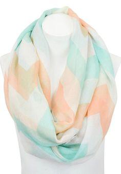 Pastel chevron infinity scarf