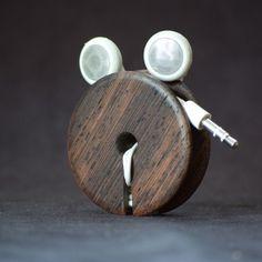 Wood Ear bud holder - Wenge - Acoustic Design