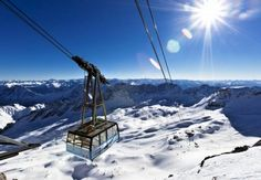 Garmisch-Partenkirchen, Germany,  cable care to top of Zugspitze Mountain