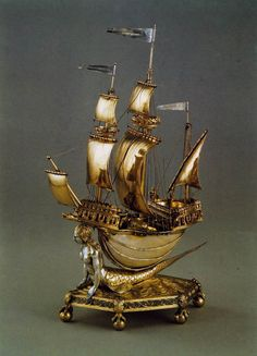 Table Nef (The Burghley Nef) 1528 Silver, 35 x 20 cm Victoria and Albert Museum, London